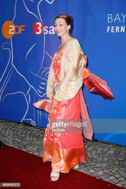 Austrian actress Aglaia Szyszkowitz attends the Bayerischer Fernsehpreis 2017 at Prinzregententheater on May 19 2017 in Munich Germany