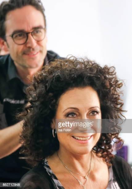 Austrian actress Barbara Wussow backstage during the Minx Fashion Night in favour of 'Sauti Kuu' of Auma Obama at Wuerzburger Residenz on September...