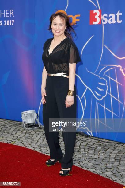 Austrian actress Eva Loebau attends the Bayerischer Fernsehpreis 2017 at Prinzregententheater on May 19 2017 in Munich Germany