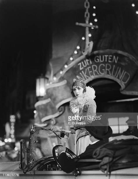 Austrian actress Jenny Jugo on a set at the UFA Studios in Germany 1928