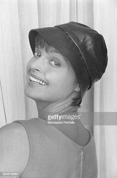 Austrian actress Nadja Tiller posing smiling at the 19th Venice International Film Festival Venice August 1958