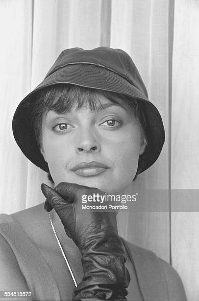 Austrian actress Nadja Tiller wearing a hat and leather gloves during the 19th Venice International Film Festival Venice August 1958