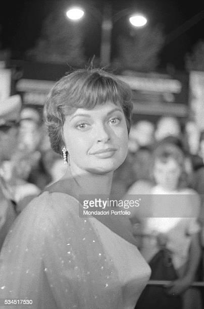 Austrian actress Nadja Tiller wearing an evening dress during the 19th Venice International Film Festival Venice August 1958