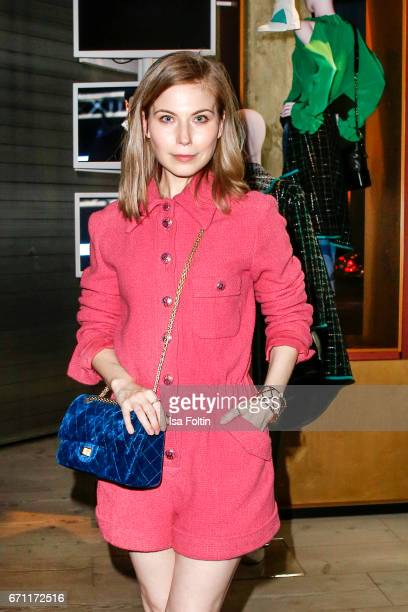 Austrian actress Nora von Waldstaetten during the Chanel popup store opening at Soho House on April 19 2017 in Berlin Germany