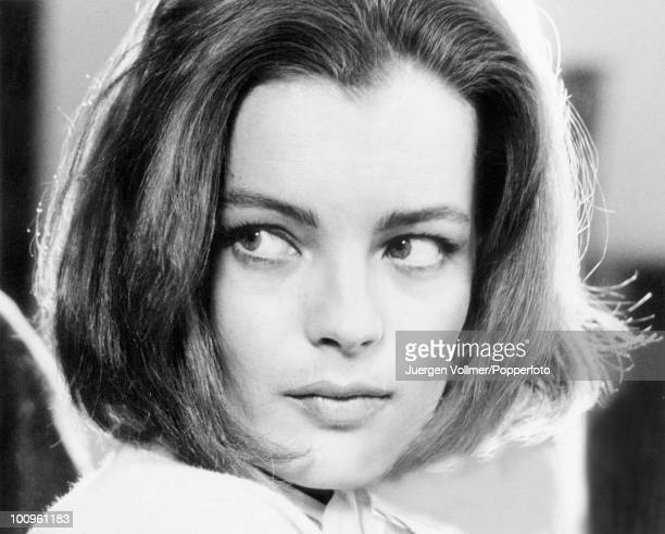 Austrian actress Romy Schneider during the filming of 'La Voleuse' in Berlin 1966