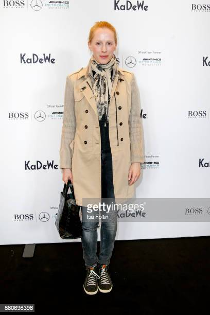 Austrian actress Susanne Wuest during the KaDeWe X Hugo Boss Evening With Lewis Hamilton on October 12 2017 in Berlin Germany