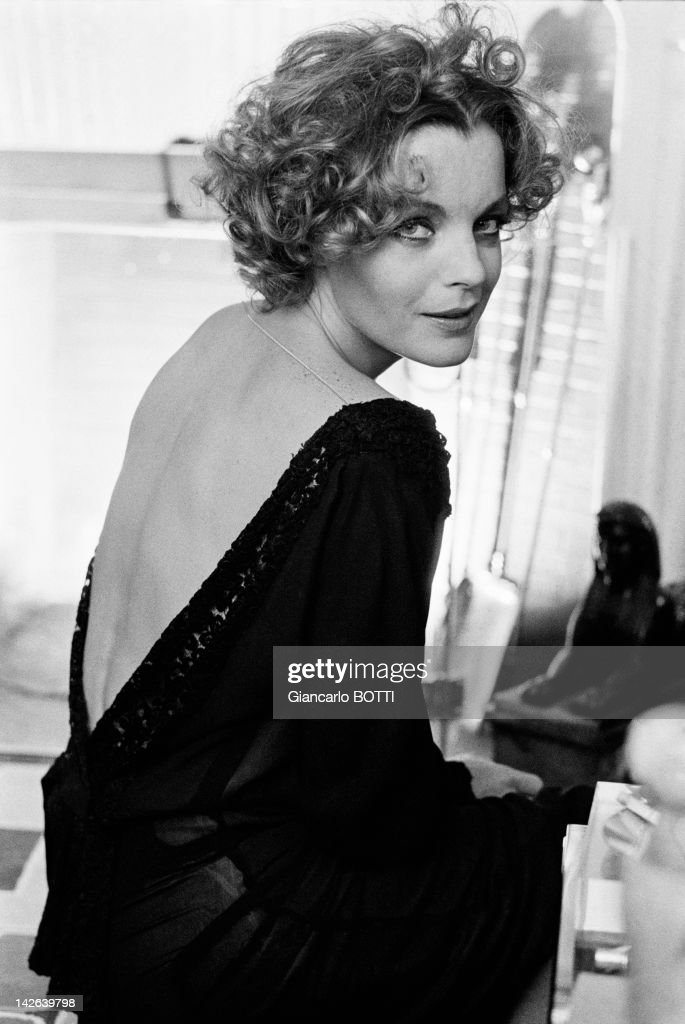 Austrian born actress <a gi-track='captionPersonalityLinkClicked' href=/galleries/search?phrase=Romy+Schneider&family=editorial&specificpeople=672667 ng-click='$event.stopPropagation()'>Romy Schneider</a> at home, 1974 in France.