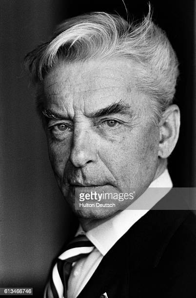 Austrian conductor and stage and film director Herbert Von Karajan 1977