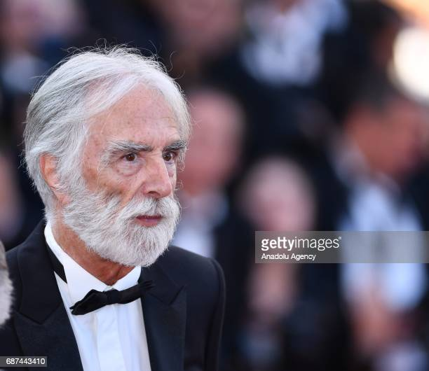Austrian director Michael Haneke arrives for the 70th Anniversary Ceremony of Cannes Film Festival in Cannes France on May 23 2017