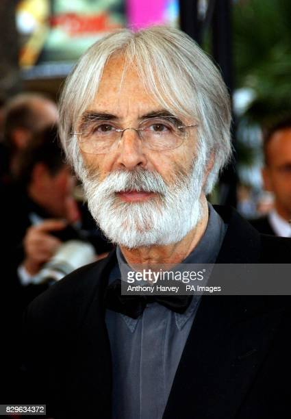 Austrian director Michael Haneke arrives