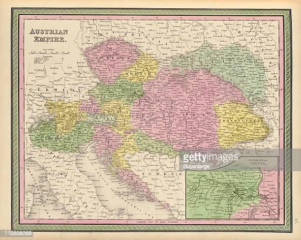 Austrian Empire 1849 Illustration by S Augustus Mitchell