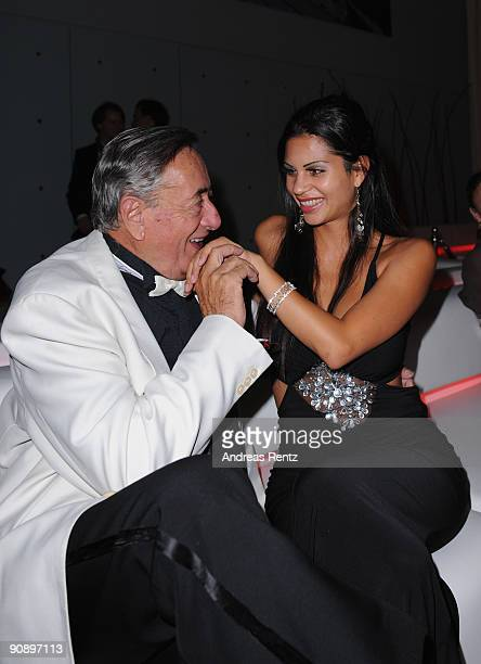 Austrian entrepreneur Richard Lugner and his girlfriend Bambi attend the 'Music meets Media' night at Hotel Esplanade on September 17 2009 in Berlin...