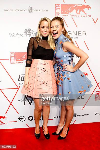 Austrian fashion designer Marina Hoermanseder and singer songwriter Victoria Swarovski attend the New Faces Award Fashion 2016 the New Faces Award...