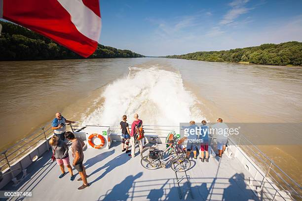 Austrian Flag on the Danube river