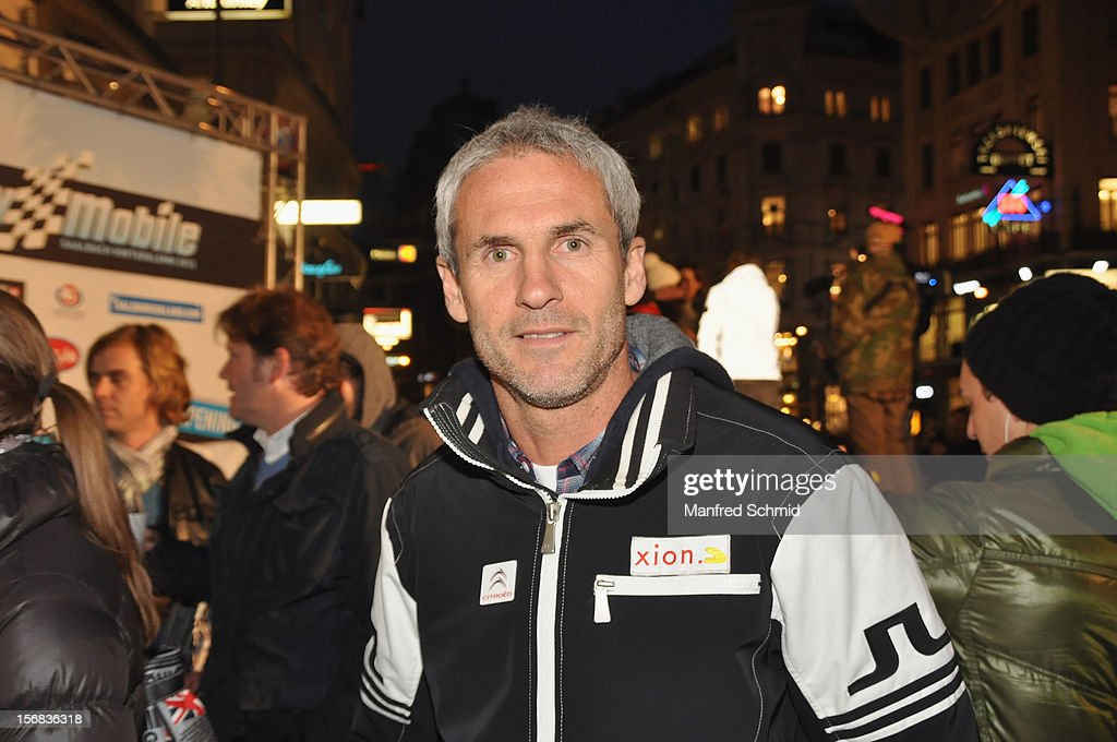 Austrian footballer Michael Konsel attends the Swatch Snow Mobile 2012 press conference at Graben on November 22, 2012 in Vienna, Austria.