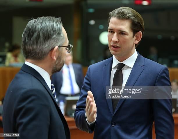 Austrian Foreign Minister Sebastian Kurz attends the EU general affairs council meeting in Brussels Belgium on December 13 2016