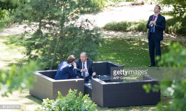 Austrian Foreign Minister Sebastian Kurz talks with Russian Minister of Foreign Affairs Sergei Lavrov during the OSCEmeeting 'Building Trust through...
