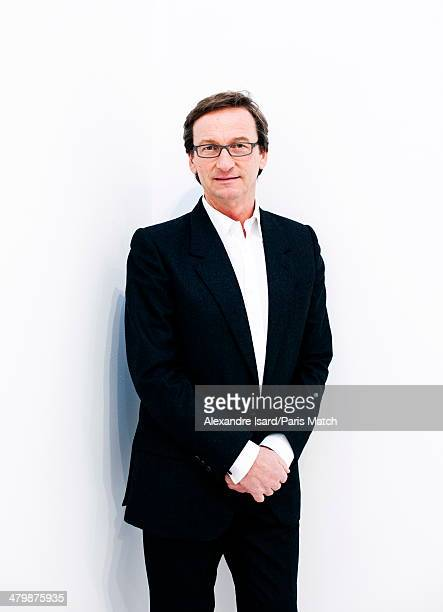 Austrian gallery owner Thaddaeus Ropac is photographed for Paris Match in Paris on February 27 2014