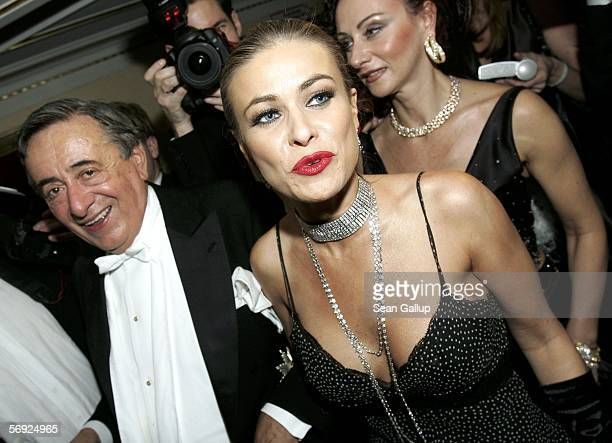 Austrian millionaire Richard Lugner and his guest actress Carmen Electra attend the 50th Vienna Opera Ball at the Vienna State Opera February 23 2006...