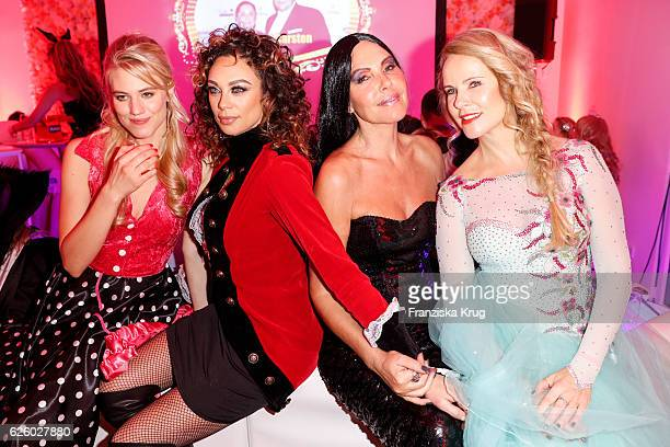 Austrian model Larissa Marolt Lilly Beckergerman actress Natascha Ochsenknecht and german moderator Katja Burkard attend the Hollywood Superhero...