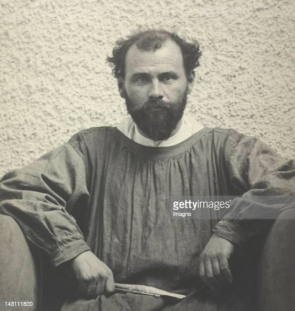Austrian painter Gustav Klimt in the main hall of the 14th exhibition Secession Vienna Photograph 1902