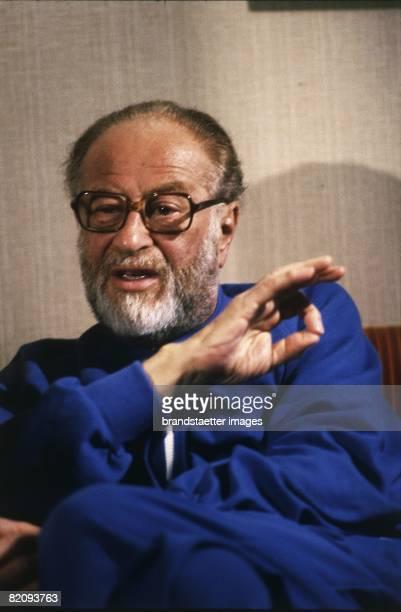 Austrian politician Bruno Kreisky during an interview Photograph 1984 [Bruno Kreisky whrend eines Interviews Photographie 1984]