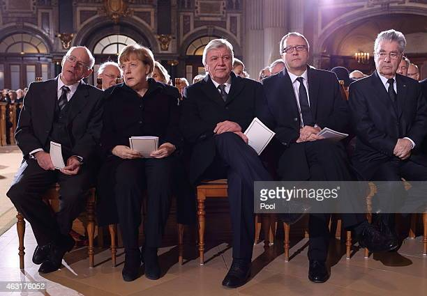 Austrian President Heinz Fischer the President of the Constitutional Court Andreas Vosskuhle Hessian Minister President and Federal Chairman Volker...