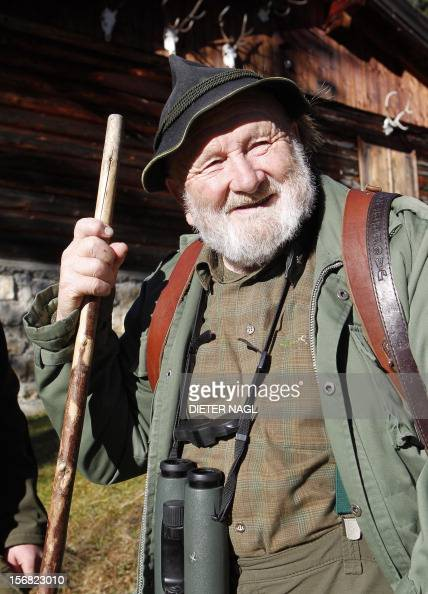 Austrian professional hunter and author Willi Neuhauser is pictured on November 17 2012 at the 'Erzherzog Johann Klause' hunting ground at the...