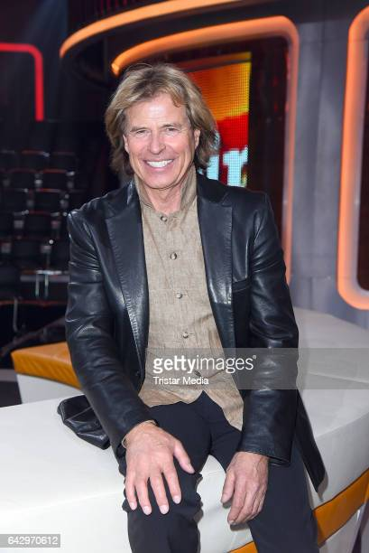 Austrian singer and former austrian skier Hansi Hinterseer attends the TV Show 'Klein Gegen Gross' at Studio Adlershof on February 19 2017 in Berlin...