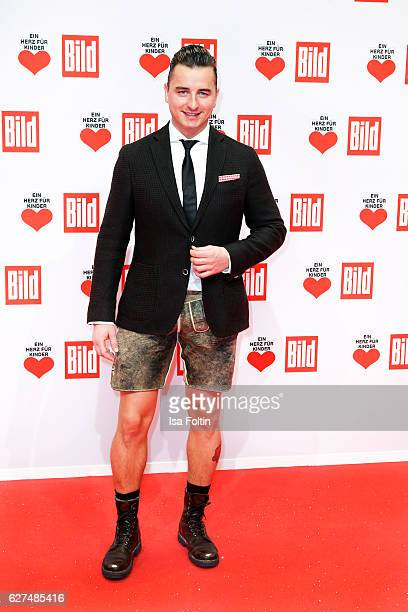 Austrian singer Andreas Gabalier attends the Ein Herz Fuer Kinder gala on December 3 2016 in Berlin Germany