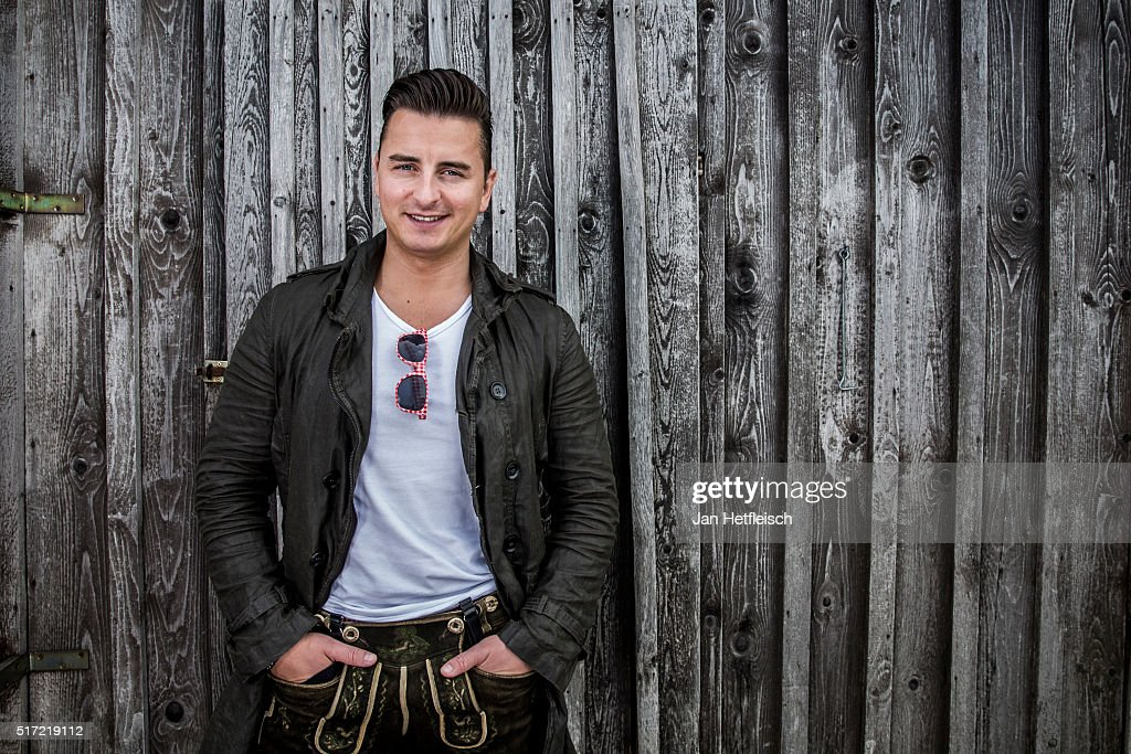 Austrian singer <a gi-track='captionPersonalityLinkClicked' href=/galleries/search?phrase=Andreas+Gabalier&family=editorial&specificpeople=8314066 ng-click='$event.stopPropagation()'>Andreas Gabalier</a> poses during a portrait session on May 13, 2015 in Berchtesgaden, Germany.