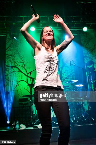Austrian singer Christina Stuermer performs live during a concert at the Huxleys on April 6 2017 in Berlin Germany