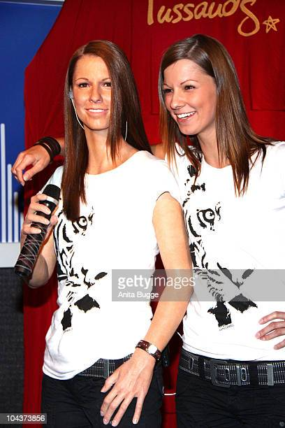 Austrian singer Christina Stuermer unveils her wax figure at Madame Tussaud's on September 23 2010 in Berlin Germany