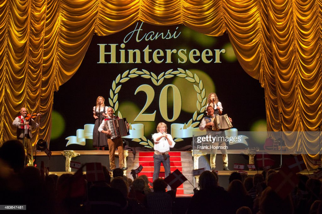 Austrian singer <a gi-track='captionPersonalityLinkClicked' href=/galleries/search?phrase=Hansi+Hinterseer&family=editorial&specificpeople=2077337 ng-click='$event.stopPropagation()'>Hansi Hinterseer</a> performs live during a concert at the Tempodrom on April 09, 2014 in Berlin, Germany.