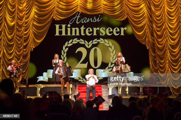 Austrian singer Hansi Hinterseer performs live during a concert at the Tempodrom on April 09 2014 in Berlin Germany