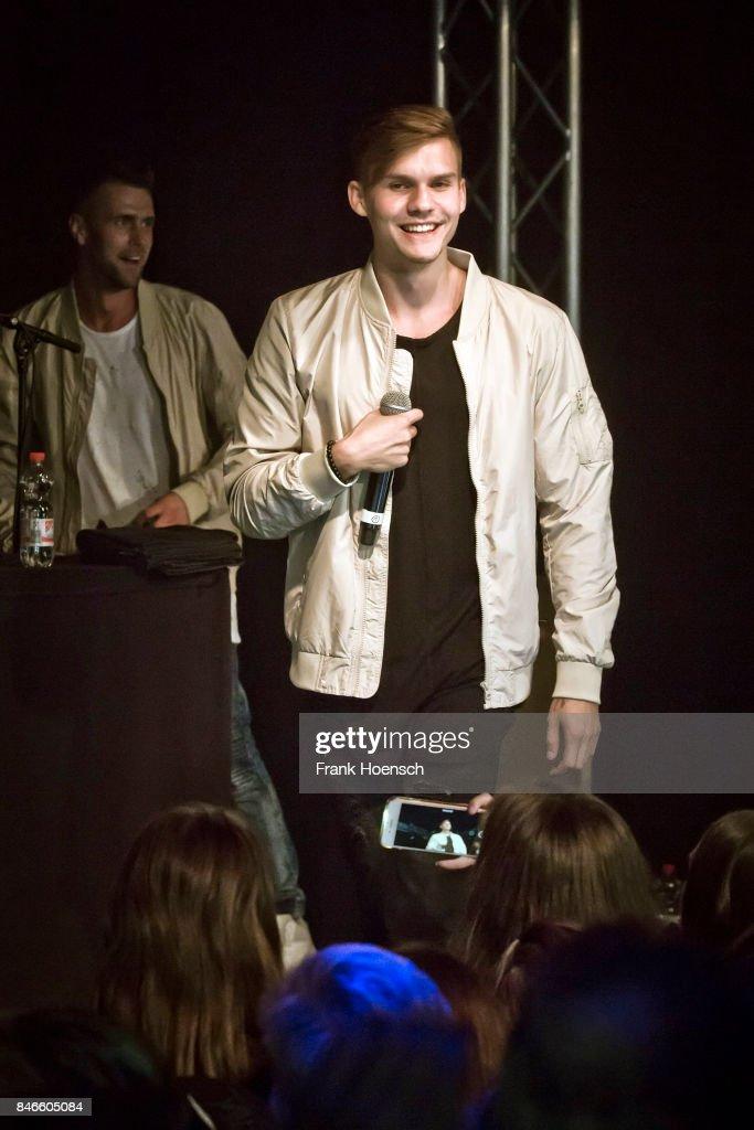 Austrian singer Marcel Daehne aka KS Freak performs live on stage during a concert at the Frannz on September 13, 2017 in Berlin, Germany.
