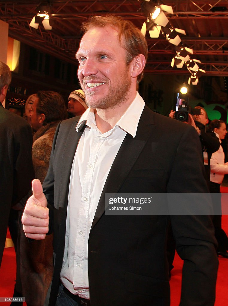 Austrian ski legend <a gi-track='captionPersonalityLinkClicked' href=/galleries/search?phrase=Hermann+Maier&family=editorial&specificpeople=202464 ng-click='$event.stopPropagation()'>Hermann Maier</a> attends the Audi Night 2011 at Hotel Tenne on January 21, 2011 in Kitzbuehel, Austria.