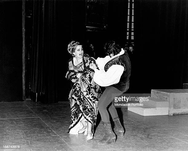Austrian soprano Ute de Vargas playing the character of Desdemona in the opera Otello Munich May 1968