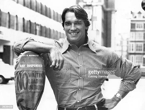 Austrianborn American actor Arnold Schwarzenegger originally a bodybuilder who won the title Mr Universe five times Schwarzenegger announced on...