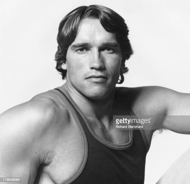 Austrianborn bodybuilderturnedactor Arnold Schwarzenegger appears in the documentary film 'Pumping Iron' 1977