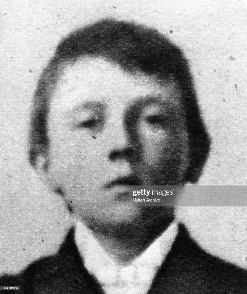 Austrian-born German dictator Adolf Hitler (1889 - 1945), as a ten year old boy.