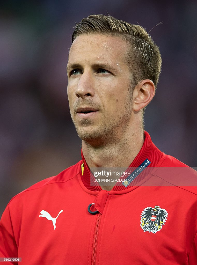 Austria's player Marc Janko attends the pre-Euro 2016 friendly football match between Austria and Malta at the Woerthersee Stadium in Klagenfurt, Austria on May 31, 2016. / AFP / APA / Johann GRODER / Austria OUT