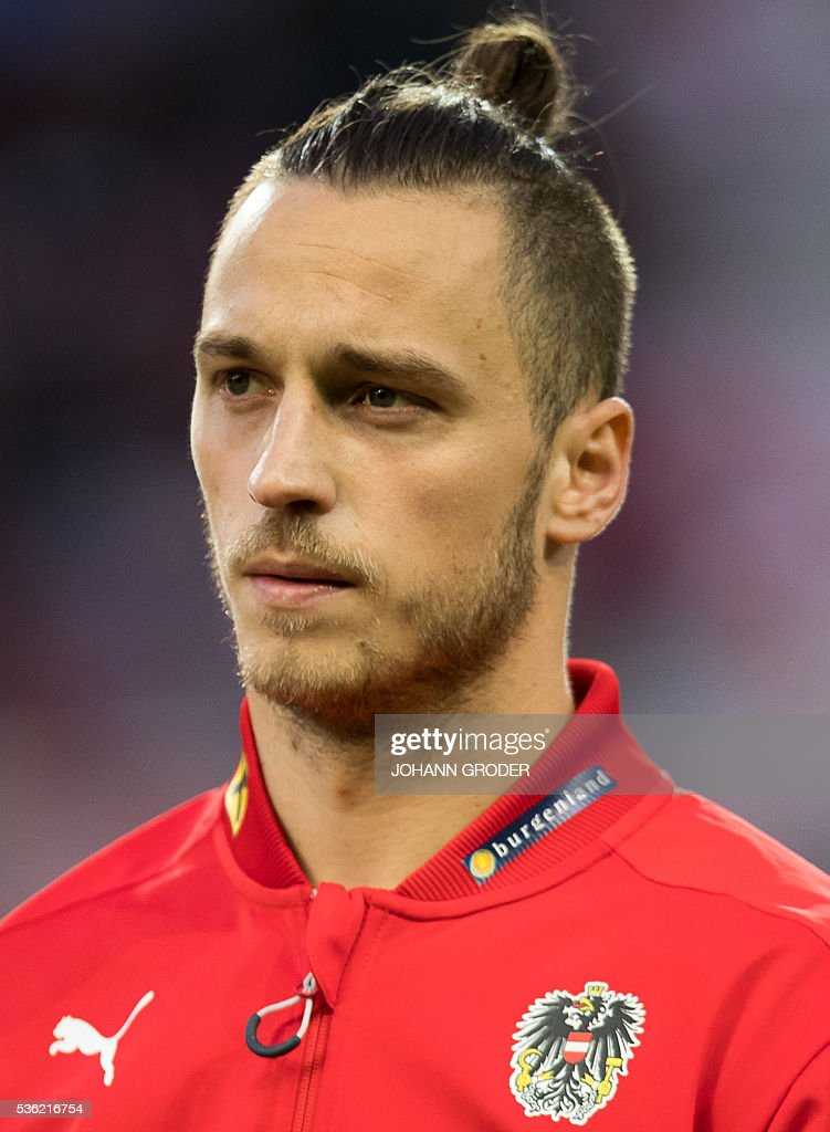 Austria's player Marko Arnautovic attends the pre-Euro 2016 friendly football match between Austria and Malta at the Woerthersee Stadium in Klagenfurt, Austria on May 31, 2016. / AFP / APA / Johann GRODER / Austria OUT
