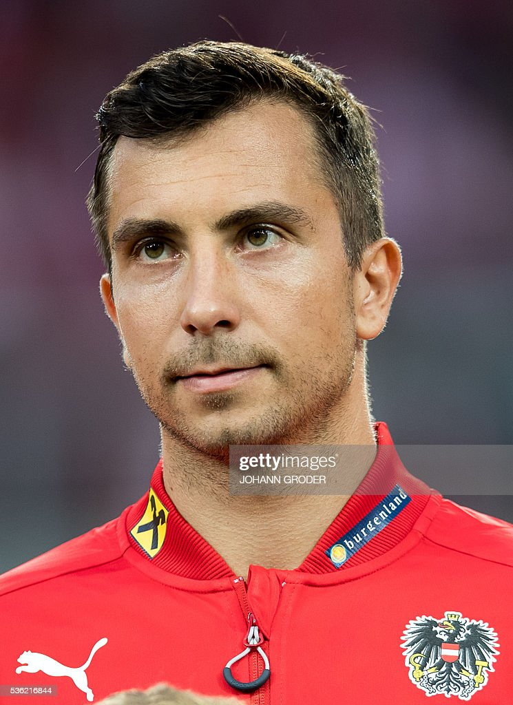 Austria's player Markus Suttner attends the pre-Euro 2016 friendly football match between Austria and Malta at the Woerthersee Stadium in Klagenfurt, Austria on May 31, 2016. / AFP / APA / Johann GRODER / Austria OUT