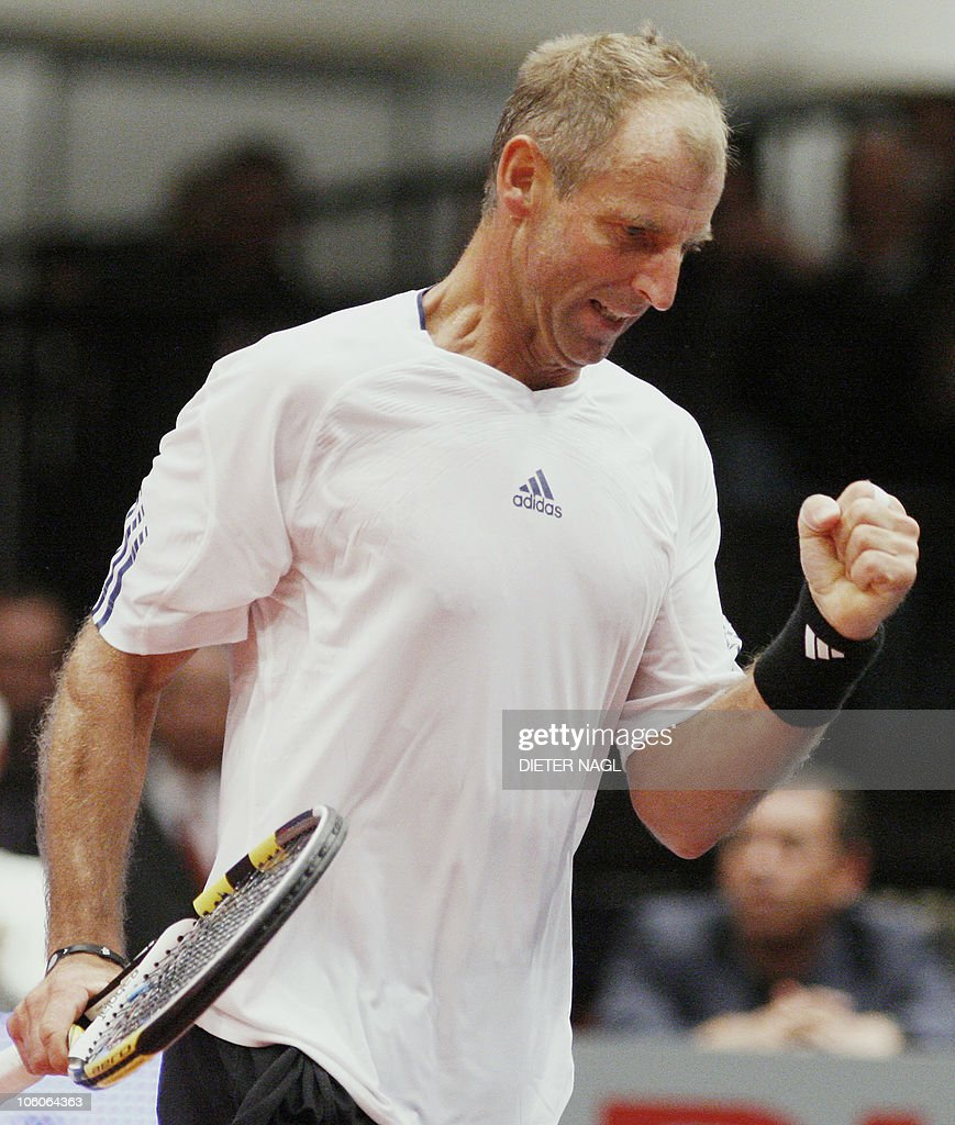 Austria s Thomas Muster reacts during hi