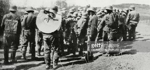 AustroHungarian attack troops on the Isonzo Italy World War I from L'Illustrazione Italiana Year XLIV No 29 July 22 1917