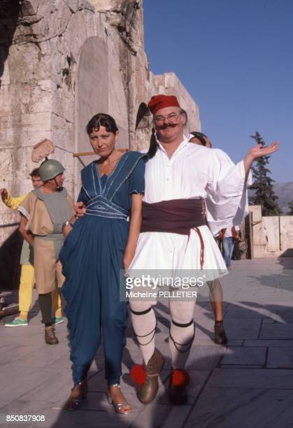 L'auteur et compositeur français Charles Level et sa femme Claire Versane en 1984 France