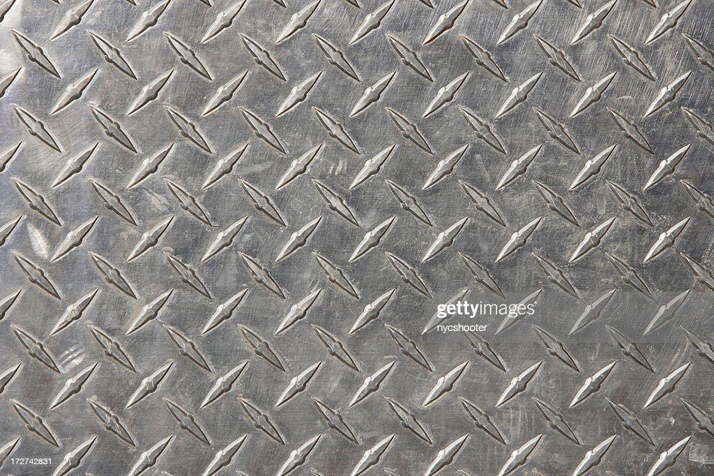 Authentic diamond plate steel