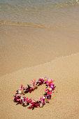 Authentic Hawaiian Lei on the Beach