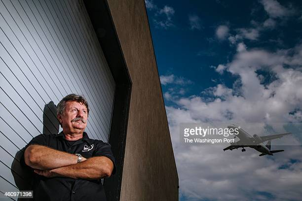 Author adventurist and survival gear business owner Robert Young Pelton outside his workshop in San Diego California on August 11 2014 Pelton is...